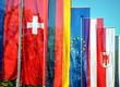 Leinwanddruck Bild - flags of German-speaking countries Austria, Germany and Switzerland