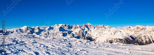 Leinwand Poster Snowy Brenta Dolomites - Alps