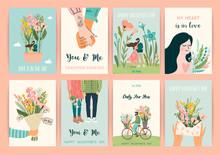 Romantic Set Of Illustrations ...