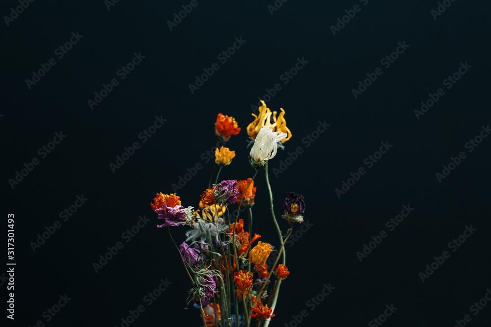 Fototapeta dried flower bouquet, abstract