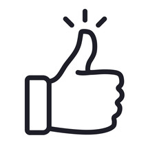 Like Confirm And Thumb Up Outline Icon