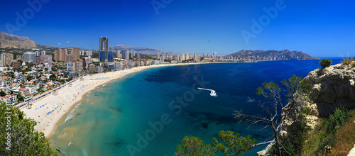 Spain, view of the city of Benidorm on the Costa Blanca
