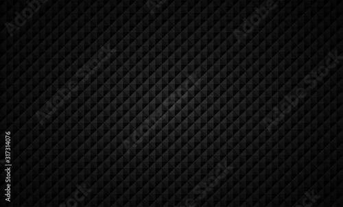 Fotografie, Obraz Angle shapes texture Black background. Vector illustration