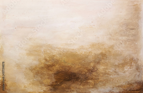 Yellow brown acryl texture, album page Canvas Print