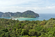 Beautiful Scenery seen from Koh Phi Phi Viewpoint (Koh Phi Phi Don) on Koh Phi Phi Island, Thailand, Asia