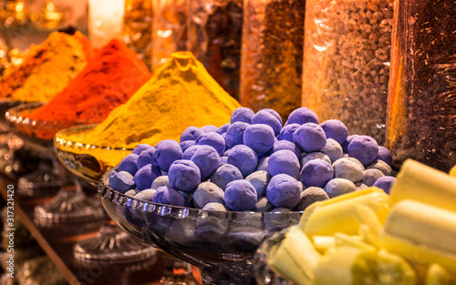 Herbs and Spices in Dubai market Spice Souq Famous Attraction in Deira organic cooking spices
