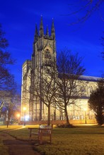 Bridlington Priory, East Riding Of Yorkshire, By Night.