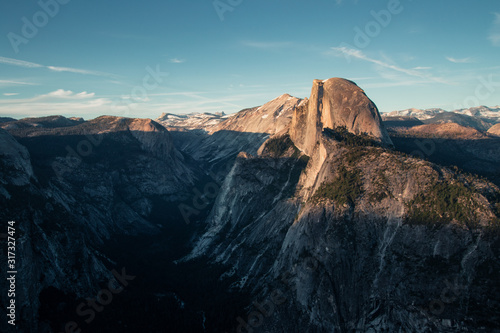 Last light of the day in the Yosemite Valley Wallpaper Mural