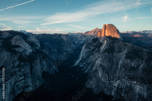 Last light of the day in the Yosemite Valley Canvas Print