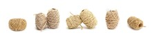 Skein Of Rope Twine On A White Background.