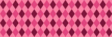 Pink And Magenta Argyle Banner