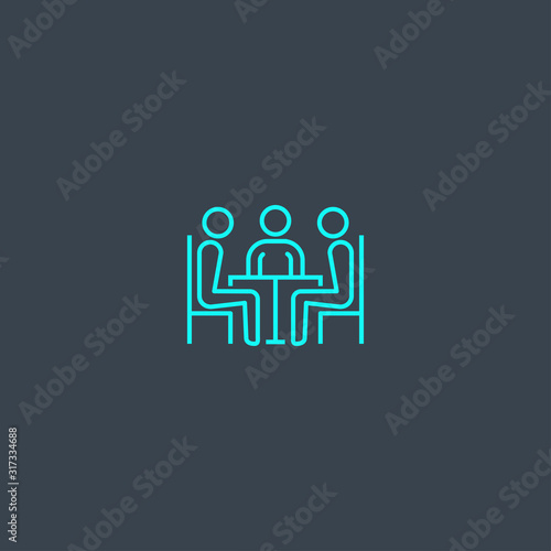 Business incubator concept blue line icon Tablou Canvas