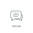 text chat concept line icon. Simple element illustration