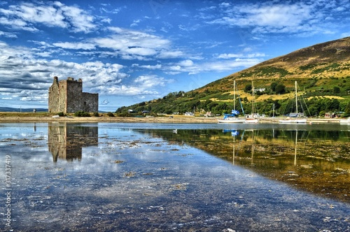 lochranza castle isle of arran scotland Canvas Print