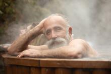 Bearded Senior Man Enjoying Ou...