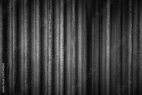 Close-up of an aged, dirty and corrugated wall Fotobehang