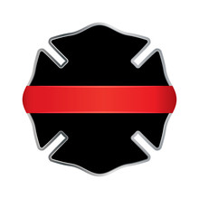 Firefighter Thin Red Line Badg...