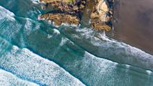 Aerial View Beach, Ocean And R...