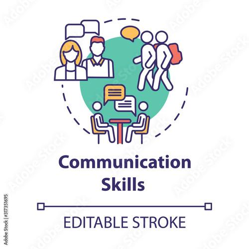 Communication skills concept icon Canvas Print