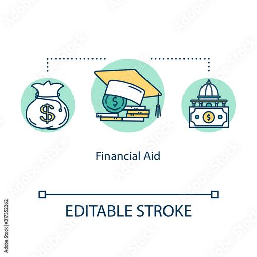 Financial aid concept icon Canvas Print