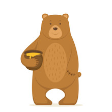 Bear With A Pot Of Honey