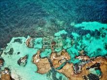 Old Ship Wreck From Above On Rottnest Island In Western Australia Near Peart, Australia