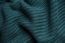 Texture Of A Woolen Knitted Gr...