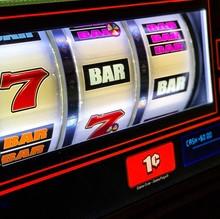 Close View Of Slot Machine