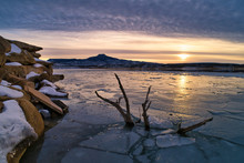 Winter Sunset At Lake Abiquiu ...