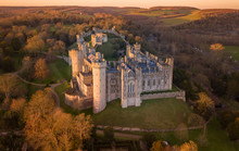 Arundel Castle, Arundel, West Sussex, England, United Kingdom. Bird Eye View