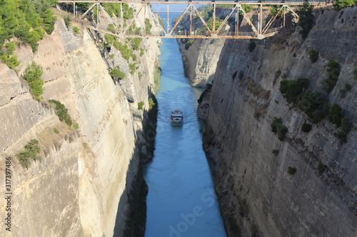 Obraz na plátne Corinth Canal