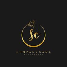 SC Initial Handwriting Logo Wi...
