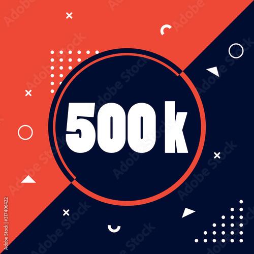 500k follower with memphis style Slika na platnu