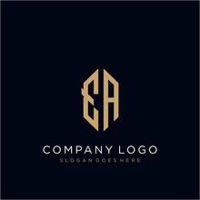 EA Letter Logo Icon Design Template Elements