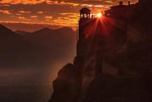 Sunset Over Varlaam Monastery ...