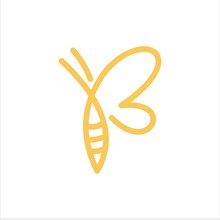 Bee And Letter B Vector Logo G...