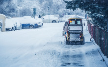 Snow Plow Truck Clearing Road ...