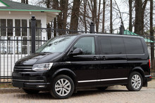 Comfortable Black Minivan.
