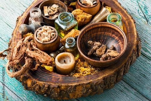 Various kinds of herbal Wallpaper Mural