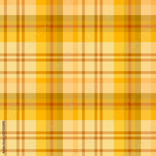 Fotografija Seamless pattern in bright yellow and discreet orange colors for plaid, fabric, textile, clothes, tablecloth and other things
