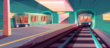 Metro Station, Arriving Train ...