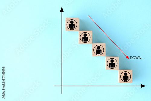 Fotografie, Obraz 人口の減少イメージ