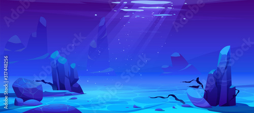 Carta da parati Ocean or sea underwater background