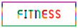 Leinwanddruck Bild - Fitness web Sticker Button