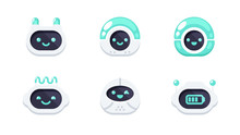 Robot Emotions Set. Cute Robot...