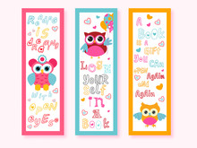 Printable Cartoon Owl Bookmark...