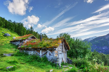 Typical Norwegian Old Wooden H...