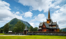 Old Wooden Lom Stave Church (L...