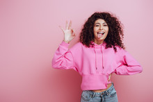 Cheerful Bi-racial Girl Sticki...
