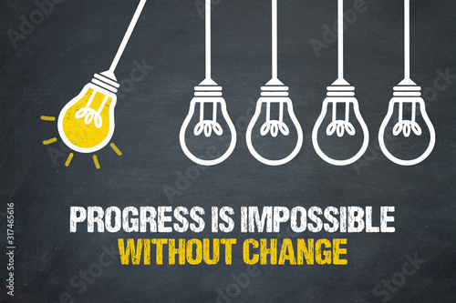 Cuadros en Lienzo Progress is impossible without change